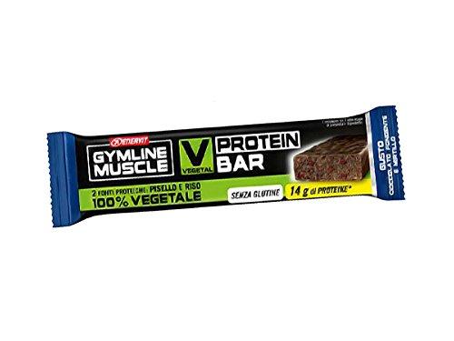Enervit gymline muscle v pro bar barretta proteica vegetale gusto cioccolato fondente/mirtillo, box 25 pz da 60 g