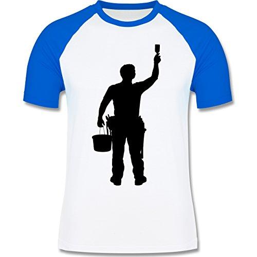 Handwerk - Maler - zweifarbiges Baseballshirt für Männer Weiß/Royalblau