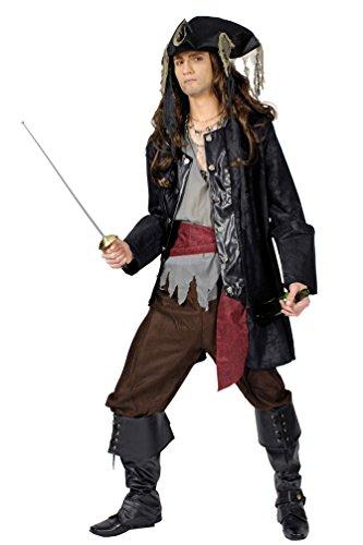 iratenkostüm Herren Lumpen-Pirat Kostüm Pirat Herren-Kostüm Größe 50/52 ()