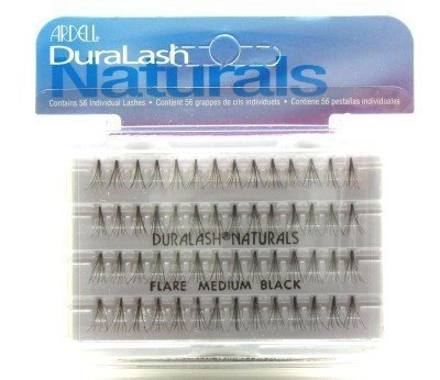 ARDELL DURALASH NATURALS KNOT-FREE FLARES MEDIUM BLACK (56 LASHES) (Pack of 6) (Künstliche Wimpern) - Ardell Duralash Flare