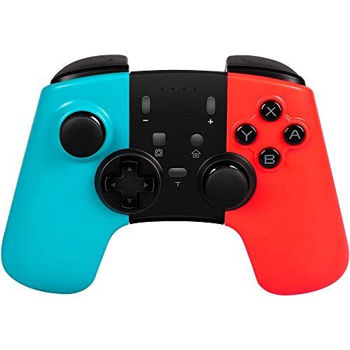STOGA Wireless Pro Controller für Nintendo Switch, Kabelloser Bluetooth Gamepad Controller mit Dual Vibration Feedback und Turbo Funktionen Achsen Gyroskop für Nintendo Switch(Blau + Rot)