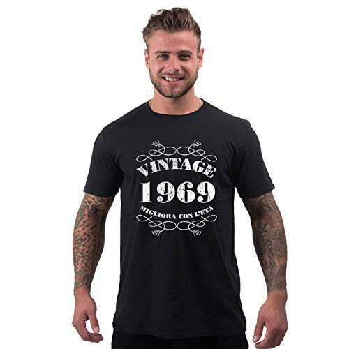 Bang Tidy Clothing T-Shirt da Uomo da 50esimo Compleanno Vintage 1969 - Maglietta Idea Regalo per i 50 Anni