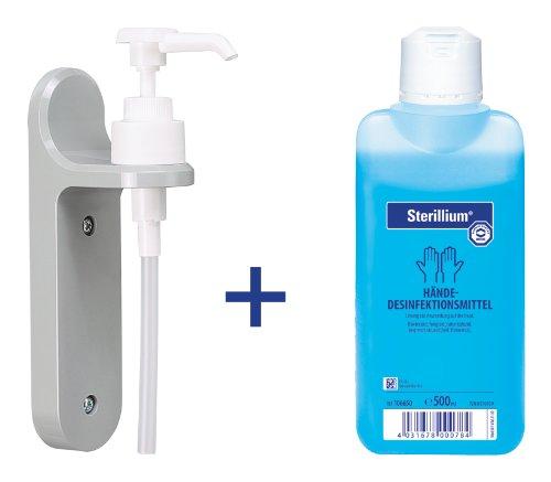 hndedesinfektion-sterillium-500-ml-und-eine-wandhalterung-mit-dosierpumpe