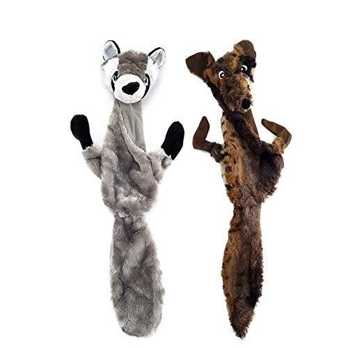 AIDIYA - Giocattoli per Cani con sonaglio, in Morbido Peluche, per Cani di Taglia Media e Grande, Confezione da 2