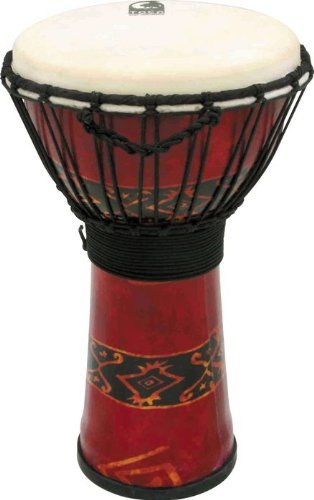 Toca TO803181 - Djembe Freestyle 10'', color rojo Bali
