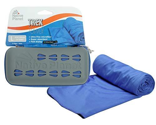 Mikrofaser-trek Handtuch (Native Planet Trek Mikrofaser-Handtuch - Super saugfähig, kompakt und schnell trocknend für Reisen und Camping, ozeanblau, Large)
