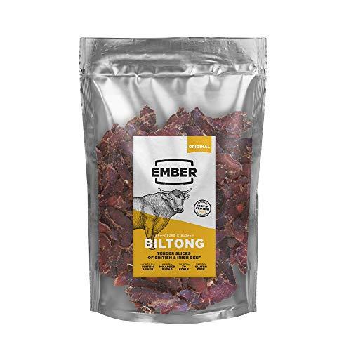 Ember Biltong Großpacksack - Beef Jerky Original - Proteinreicher Snack - Original (1x500g) -