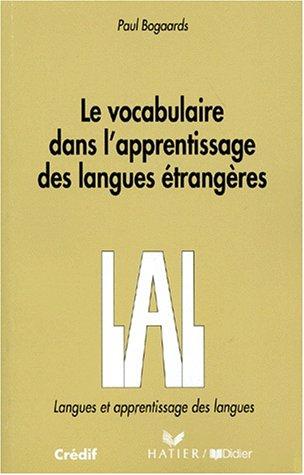Le vocabulaire dans l'apprentissage des langues