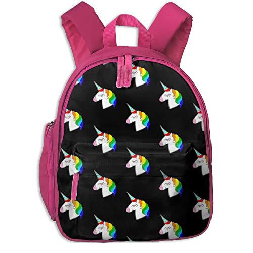 Kinderrucksack mädchen,Rainbow Unicorns_3661 - hejamieson, Für Kinderschulen Oxfordstoff (pink) (Rucksack Thomas Kleinkind)