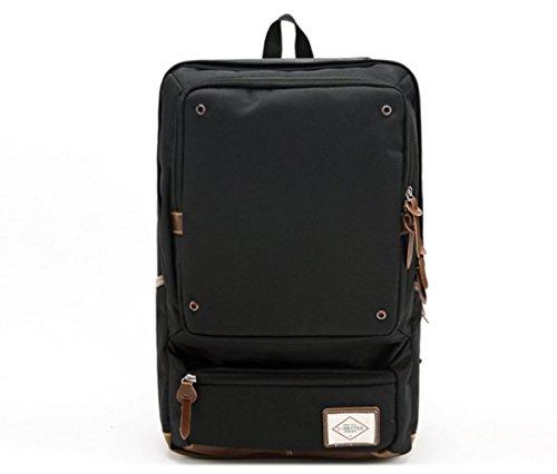 BULAGE Taschen Natur Reisen Mit Hohen Kapazität Schultern Freizeit Computer Männer Und Frauen Schultaschen Studenten Jugendliche Gehen Arbeit Black