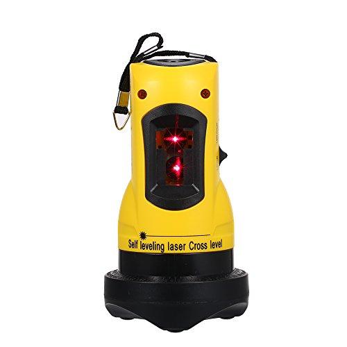 KKmoon Haushalt 2 Linien Kreuz Laser Level Gerät 360 Rotary Cross Line Nivellierung kann mit Overrange Alarm Outdoor Empfänger Vertikal und Horizontal verwendet werden