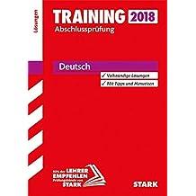 Training Abschlussprüfung Realschule Niedersachsen - Deutsch Lösungen