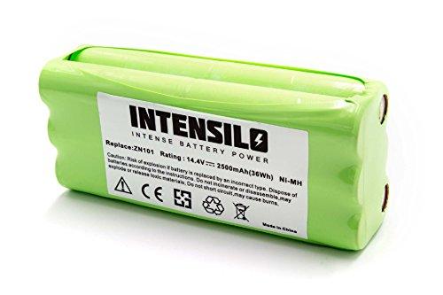 INTENSILO NiMH Akku 2500mAh (14.4V) für Saugroboter Home Cleaner Heimroboter Dirt Devil M610, M611,...