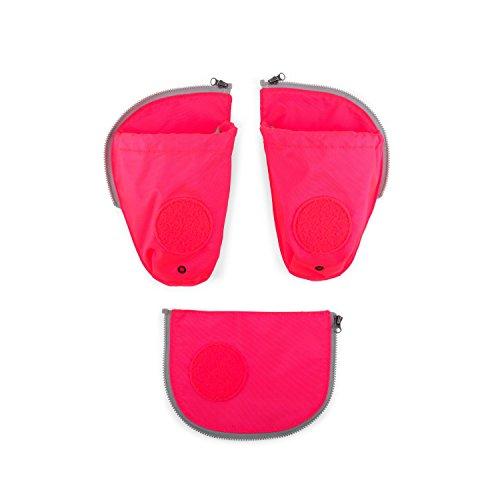 Ergobag Zubehör und Accessoires Sichherheitsset Pack 3-tlg mit Seitentasche Pink 511 pink