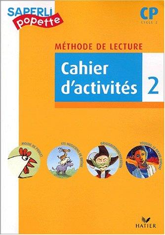 Saperlipopette CP : Cahier d'activité 2 par Viviane Audouard, Marc Demarest