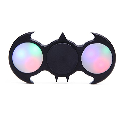 Preisvergleich Produktbild Husk'sware Batman Fidget Spinner Led Hand Fidget Spinners Toys With Quiet Bearings(2min+)
