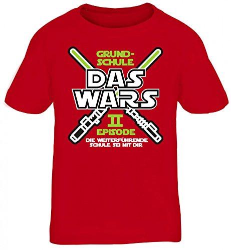 Einschulung 5. Klasse Kinder T-Shirt Laserschwert Grundschule Das Wars - Episode II, Größe: (Star Wars Kinder T Shirts)