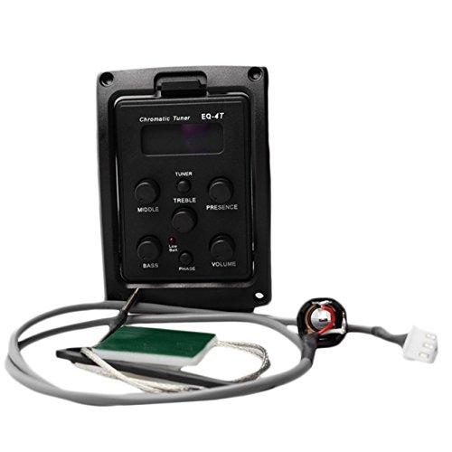 Gitarren Pickup, EQ Preamp mit Tuner für Akustikgitarre mit LCD-Tuner und Lautstärkeregler E-Gitarren-Vorverstärker