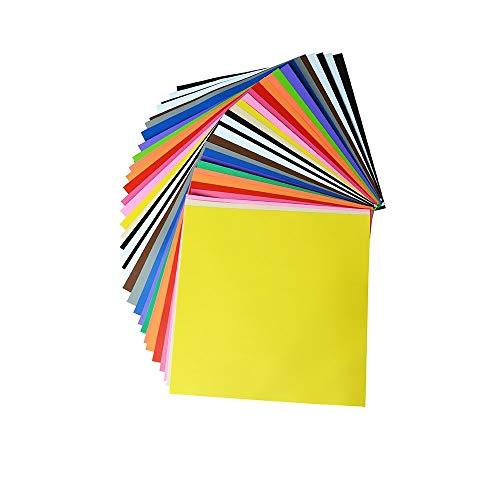 Premium Permanent selbstklebende Vinyl-Platten 30,5 x 30,5 cm, verschiedene Farben 34 Farbe für Handwerk Cameo Maschinen