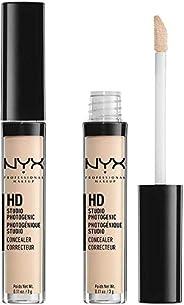 NYX Professional Makeup HD Photogenic Concealer vägg, täckkräm, ljus till stark täckkraft, porcelain, 2-pack,