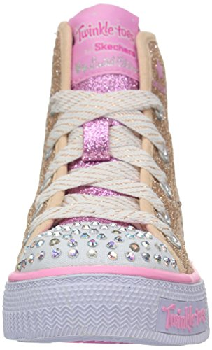 Skechers Shuffles Doily Dance Toile Baskets Or (Gold/pink)