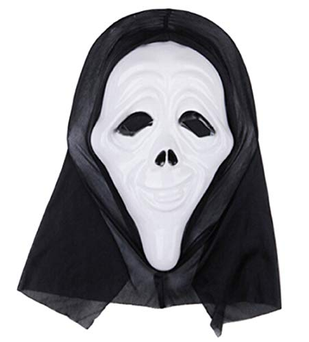 Inception Pro Infinite Maschera per Costume Travestimento Carnevale Halloween Scream Mostro Assassino Colore Bianco Adulti Unisex Donna Uomo Ragazzi