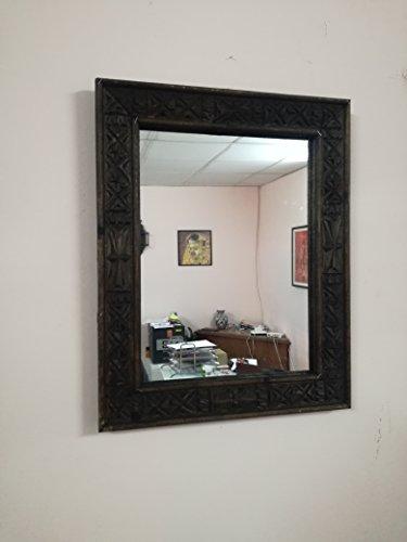 Specchio Etnico in Legno Intagliato Marocco 0919 Moroccan Marocchino Etnico Africano Artigianato Hand Made