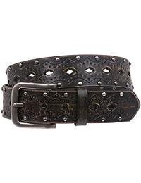 Fijación a Presión con tachuelas cinturón de Jean en relieve Vintage