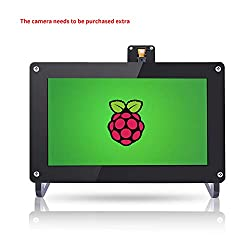 "SUNFOUNDER Raspberry Pi 7"" Monitor - 7 Zoll IPS Display Panel 1024×600 HD LCD Audio HDMI/VGA/USB Screen with Camera Holder and Pi Case for Raspberry Pi 3, 2 Model B and 1 Model B+/A+/B Kano"