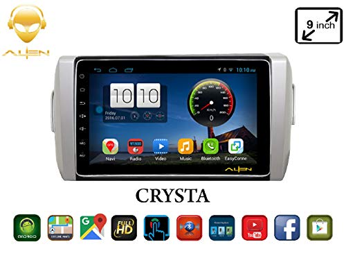 ALIEN 9.0 Inches Toyota Innova Crysta Black Android Infotainment System Advance Series