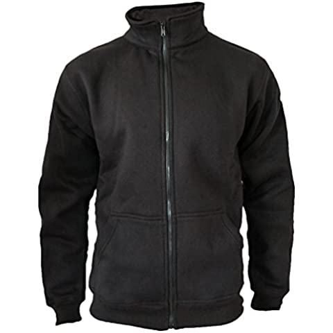Suéter de la chaqueta de los hombres de la cremallera ROCK-IT original negro