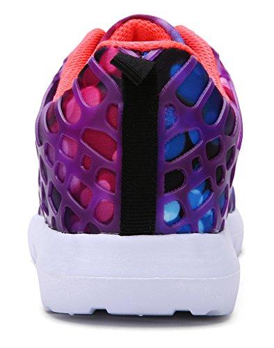 Maylen Hughes Scarpe Donna Colorate Comode Running Sportive Sneakers Moda Fitness Grandi Numeri Viola