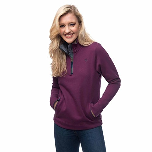 LightHouse Women's Skye Half Zip Cotton Sweatshirt