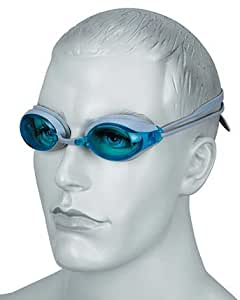 Osprey Blue Tint Lens Swimming Goggles With Grey Silicone HeadStrap
