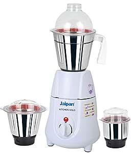 Jaipan JKG-1101 500-Watt Kitchen Gold Mixer Grinder (White)