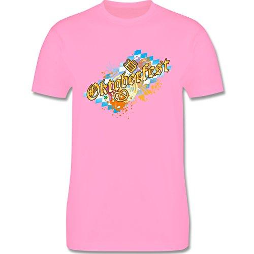 Oktoberfest Herren - Oktoberfest bunt - Herren Premium T-Shirt Rosa