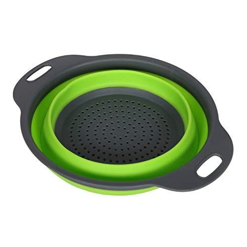 NILE Kitchen Tool Bowl Strainer for Rice, Fruits, Vegetable RT 174 (Green)