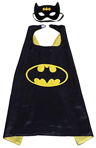 erhelden Verkleiden Umhang Kinder Kostüm Verkleiden mit Masken für Kinder von 8 bis 14 Jahre (Batman superhelden kostüm, 110cm x 70cm / 43in × 27in) (4 Einer Art Halloween-kostüme)
