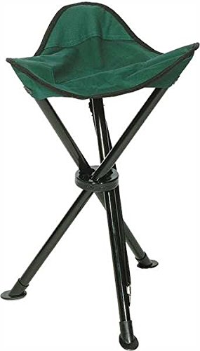 Mil-Tec - Silla plegable de 3 patas verde verde oliva Talla:Sitzhöhe: 35 cm