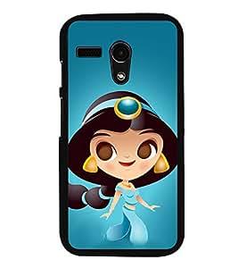 Princess 2D Hard Polycarbonate Designer Back Case Cover for Motorola Moto G :: Motorola Moto G (1St Gen)