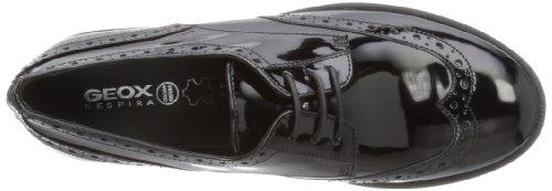 Geox J Agata C, Brogues Fille Noir (BLACKC9999)