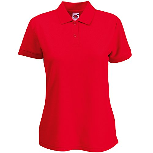 Fruit of the Loom – Lady-Fit 65/35 Polo SS212 Rot - Rot