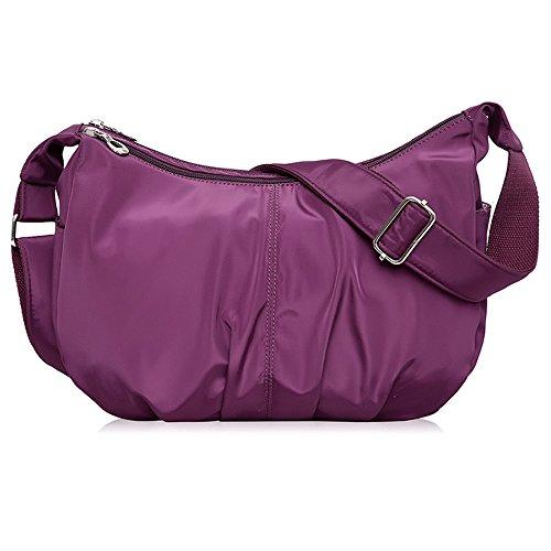 Moonbuy, Borsa a spalla donna Large Purple
