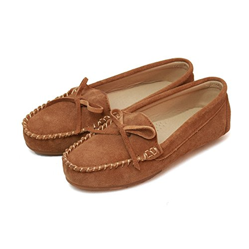 Eastern Counties Leather Mocasines ante mujer 41/Castaño
