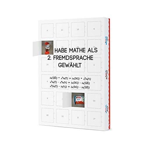 artboxONE Adventskalender mit Produkten von Kinder® Mathe als Fremdsprache Adventskalender Lehrersprüche