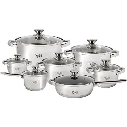"""'""""Heilsam Set Krauff 5-Piece Cookware Set, 12Pieces/Final Sale 60% OFF"""