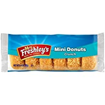 Mrs Freshleys Crunch Mini Donuts - American Donuts - 3 Pack (18 Donuts) …