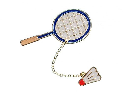 Badmintonschläger emailliert Brosche Miniblings Ball Sport Badminton Federball (Tennis Ball Charm)