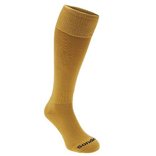 Sondico Kids Football Socks Breathable Sports Training Accessories Gold Childs C8-C13