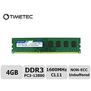 Timetec-Hynix-IC-DDR3-PC3-12800-1600-MHz-Non-ECC-Unbuffered-135V15V-Dual-Rank-240-Pin-UDIMM-Desktop-PC-Computer-Memory-Ram-Module-Upgrade